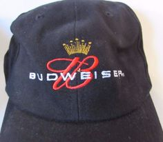 170a6a8f931 Budweiser King of Beers Black Ball Cap Hat 2003 Never Worn Classic Logo
