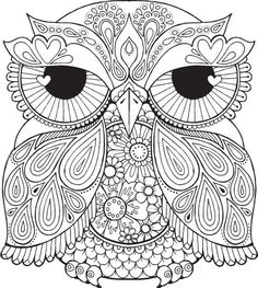Lesley Owl - Colour with Me HELLO ANGEL - coloring, design, detailed, meditation, coloring for grown ups, owl, cute colouring for kids