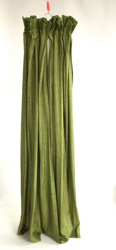 MOVING Sale Pair / GREEN Vintage CURTAINS by VintageCommon on Etsy