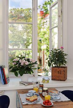 Tea by the window ...