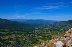 Mountain view - View of the eastern Pyrenees, France, from the Cathar site at Roquefixade