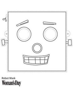 At Woman's Day you can make your own Halloween Robot Mask with this DIY design. Vbs Crafts, Halloween Crafts, Easy Halloween, Halloween Face, Nono Le Petit Robot, Robot Mask, Maker Fun Factory Vbs, Diy Robot, Robot Crafts