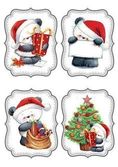 "Photo from album ""Новогодние ярлычки"" on Yandex. Christmas Clipart, Christmas Gift Tags, Christmas Printables, Vintage Christmas, Christmas Crafts, Christmas Decorations, Xmas, Christmas Ornaments, Christmas Panda"