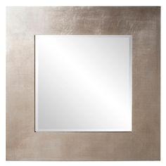 """32"""" Square Silver Leaf Mirror"""