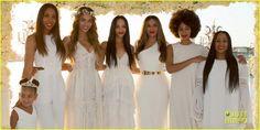 blu ivy tina knowles wedding   Beyonce, Jay Z, & Blue Ivy Make Funny Faces at Tina Knowles' Wedding ...