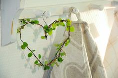 heart decorated with leaves