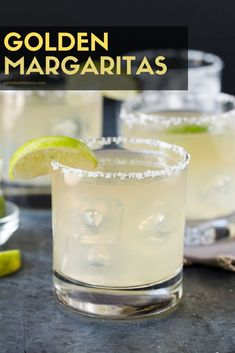 only need 4 ingredients to make the ultimate Golden Margarita! One sip and you will never drink a mix again. This classic cocktail is the BEST Margarita you will ever try! Cocktails For Parties, Cocktail Drinks, Fun Drinks, Yummy Drinks, Alcoholic Drinks, Party Drinks, Cocktails 2018, Gold Drinks, Healthy Cocktails