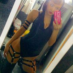 ねぇねぇ… この強めでSちっくな衣装…スキ❤️ #cyberjapan #selfie #costume #harness #s #Highleg #Japanese #girl #me #makeup #bkk #thai #connectJapan #centralworld