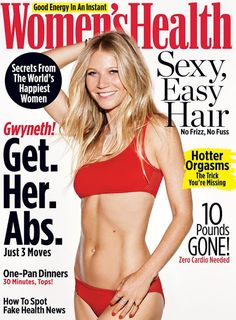 Gwyneth Paltrow in Stella McCartney on the April 2017 Cover of Women's Health Magazine