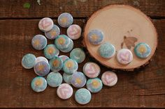 advent buttons - hope, peace, joy, love - a set of 32 blessing buttons with pin back by silvertreeart on Etsy