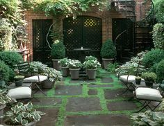 Beautiful outdoor backyard area for relaxing and enjoying good friends