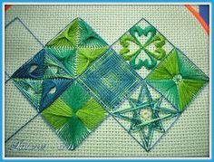 Polski Needlepoint hand emboridery creative green shades. #handemboridery #polski needlepoint