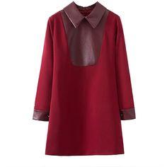 Chicnova Fashion Red Split Joint Dress