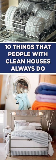 10 Things That People With Clean Houses Always Do