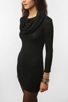 coincidence and chance cowl bodycon dress $49.00