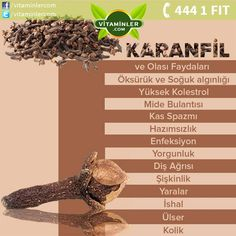 Karanfil diyip geçmemek lazım.  Kendini İyi Hisset www.vitaminler.com Healing Herbs, Medicinal Herbs, Alternative Medicine, Alternative Health, Health Fitness, Health And Nutrition, Health Tips, Health And Wellness, Health Recipes
