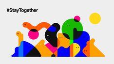 Join the Conversation on Behance Sound Design, Design Lab, Logo Design, Web Design, Graphic Design Illustration, Digital Illustration, Character Illustration, Community Logo, Simple Shapes