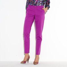 Pantalon chino en toile femme 3 suisses collection - Violet- Vue 1