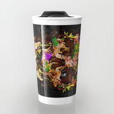 Animal Kingdom Sugar Skull Travel mug #travelmugs #animal #skull #flower #floral #sugar #dayofthedead #pattern