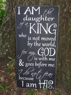 I Am the Daughter of a King Hand Painted Sign by PurePaintedSigns