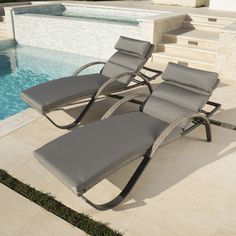 Found it at AllModern - Alfonso Outdoor Chaise Lounge Cushion Set