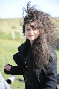 Helena Bonham Carter on Harry Potter set