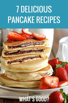 Nutella stuffed. Fluffy, delicious, mouth watering pancake ideas. From American, to Nutella, to Chocolate. Awesome (and easy) pancake recipes for you to make and enjoy on Pancake Day or any occasion. Yum! (Learn how to make from scratch)