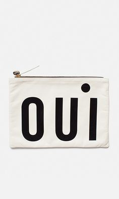 Oui, it's true! The brand has updated its signature clutch with graphic, patent lettering en francais. The smooth leather style fastens with a gold-tone coin pull and top zip. Genius Ideas, Polo Shirt Women, Polo Shirts, Cool Stuff, Stuff To Buy, Oui Oui, Gifts For Girls, Smooth Leather, Leather Fashion