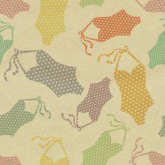 seamless pattern swimming suits by aleksandra jovanic
