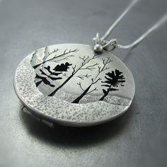 woodland forest locket