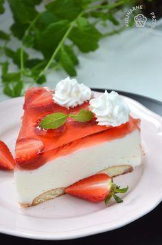 Sernik na zimno - szybki i prosty! - KulinarnePrzeboje.pl Panna Cotta, Cheesecake, Cakes, Ethnic Recipes, Food, Dulce De Leche, Cake Makers, Cheesecakes, Kuchen
