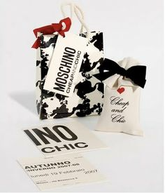 The Terrier and Lobster: Moschino Fashion Week Invites