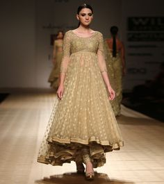 Gold Embroidered Net Tulle Anarkali Set by #Rabani&Rakha at #Indianroots Was $1,970 | Is $1,379