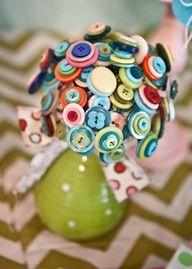 Cute little button bouquet