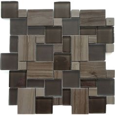 Shop Solistone 10-Pack Opera Bel Canto Dark Mixed Material (Stone and Glass) Mosaic Indoor/Outdoor Wall Tile (Common: 12-in x 12-in; Actual: 11.75-in x 11.75-in) at Lowes.com