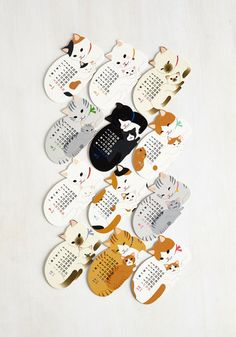 Year of the Critter 2016 Calendar in Kitties | Mod Retro Vintage Desk Accessories | ModCloth.com