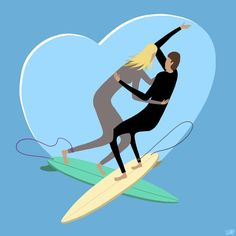 Tems Creations — Love surfing - iPad pencil and Procreate technical...