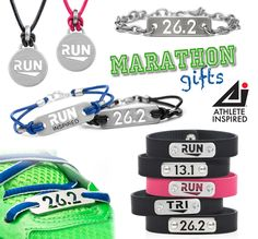 Lots of Running gifts for any Runner or Triathlete! Run, Run Inspired, 13.1, 26.2, Tri, and Tri Inspired designs for Men and Women.