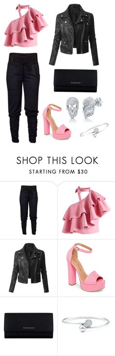 """""""""""We Wear Pink on Friday"""" Night Out"""" by hanna-mahree on Polyvore featuring Chicwish, LE3NO, Chinese Laundry, Givenchy and BERRICLE"""