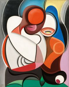 design-is-fine:Auguste Herbin, Composition, 1930. Oil on canvas. Via Koller