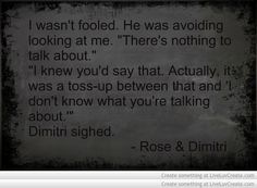 Vampire Academy Quotes | Rose & Dimitri