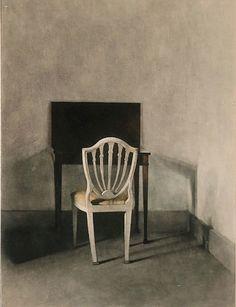 vilhelm hammershøi, A white chair, 1915