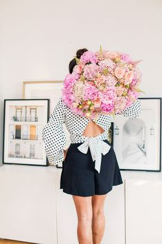 Currently Loving these Beauty Products - Olivia Jeanette Flower Bouquet Peonies Gorgeous Flowers