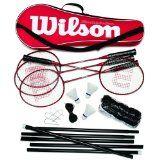 Wilson Tour Pro Badminton Kit (Red/Black) (4 Rackets, 3 Shuttles, Net, Poles, Bag) - http://www.closeoutracquets.com/badminton-racquets/wilson-tour-pro-badminton-kit-redblack-4-rackets-3-shuttles-net-poles-bag/