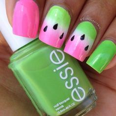 Essie Mojito Madness (?), Forget Me Nots (?) or Boom Boom Room (?) or Off The Shoulder (?) ; [guessing on polishes] ; and most likely used Essie Blanc as undies ; *le sigh* please list polishes on your nailart!!! ; 6/13/14 ; gabbysnailart