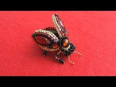 (139) HAND EMBROIDERY: BROOCH FLY| BEETLE | ВЫШИВКА: БРОШЬ:МУХА / ЖУК - YouTube