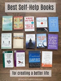 Best Life Basics Video: Best Self-Help Books Self Love Books, Best Self Help Books, Good Books, Books To Read, Ya Books, Book Suggestions, Book Recommendations, Book Club Books, Book Lists
