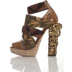 a1f358bd3df4 Rodarte Gold Metal Heeled Sandal - S471 Day Dresses
