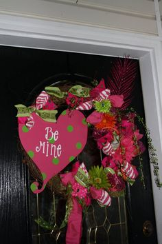 whimsical Valentine wreath by Classybutsassygifts on Etsy
