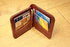 minimalist wallet, leather wallet, womens wallet, slim wallet, handmade wallet, leather purse, credit card wallet, bordeaux leather wallet
